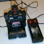 1984 soma remote control space robot 4 inch retro toy